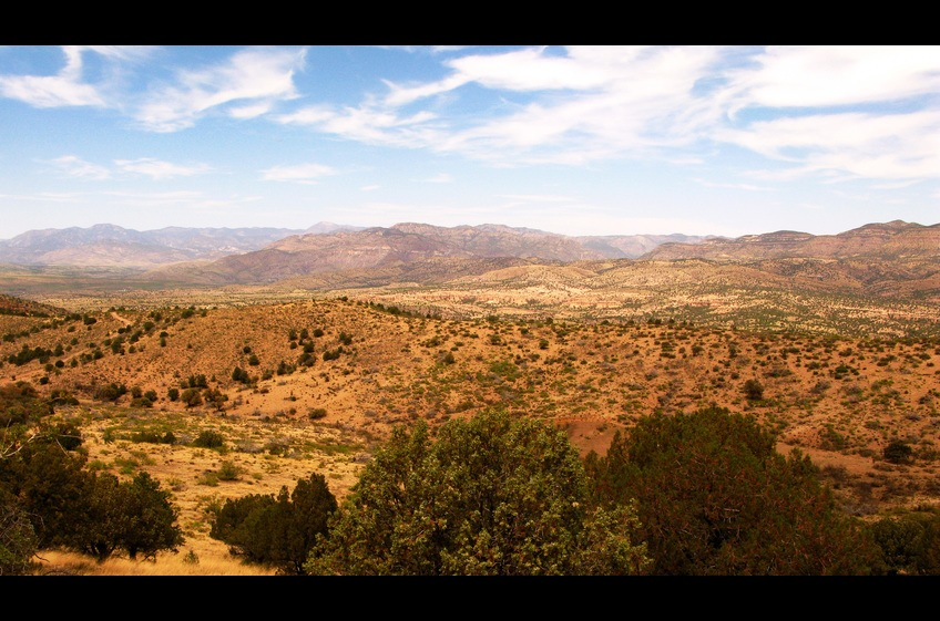 Gila National Forest as Seen from Double E Ranch Trail at New Mexico Cabin Rentals.