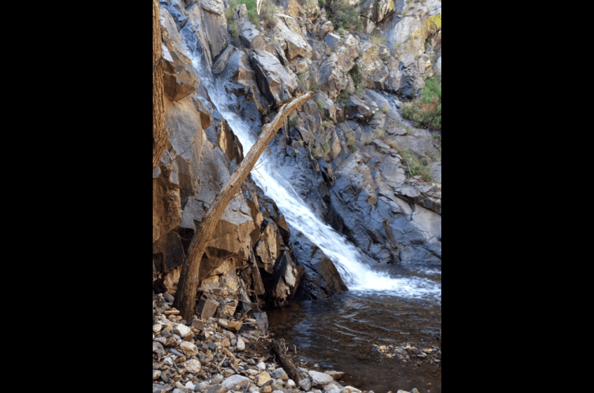 Waterfall at Mineral Creek Near New Mexico Cabin Rentals