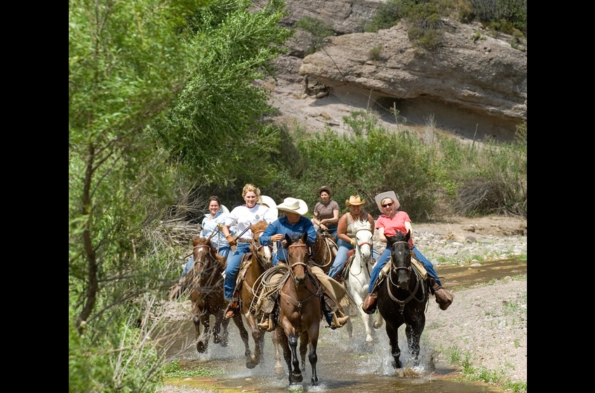 This group of Saddle Buddies is Riding Their Dream at New Mexico Cabin Rentals