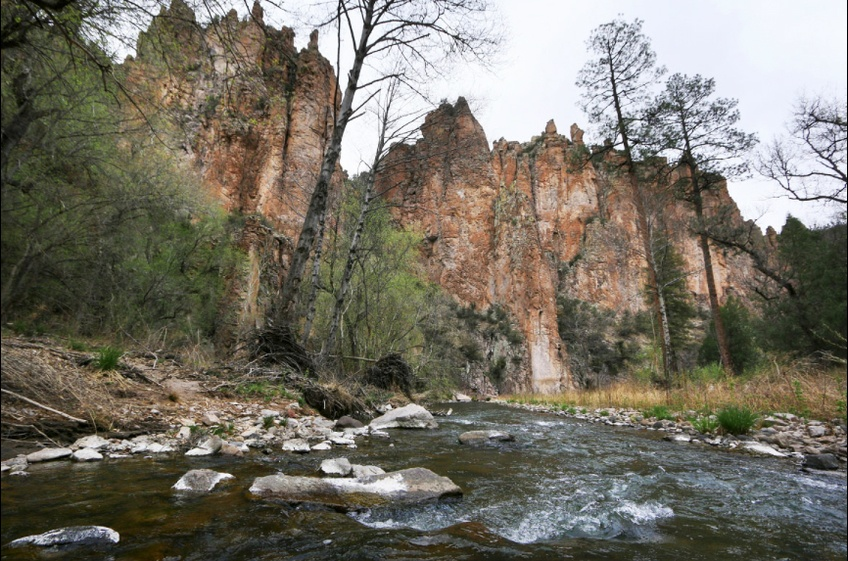 Gila River Middle Fork Hiking Destination from New Mexico Cabin Rentals