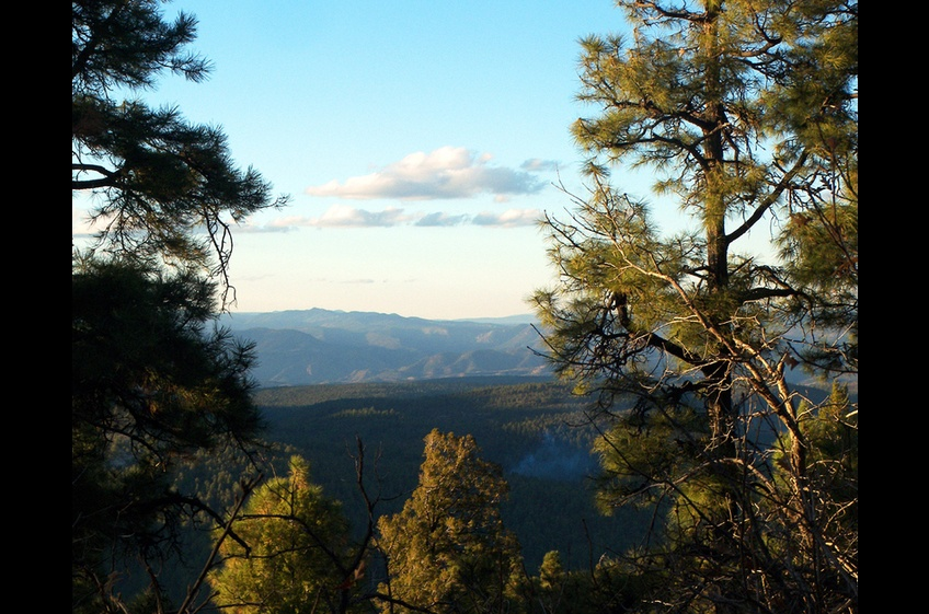 Sunset at Signal Peak Trail Near New Mexico Cabin Rentals