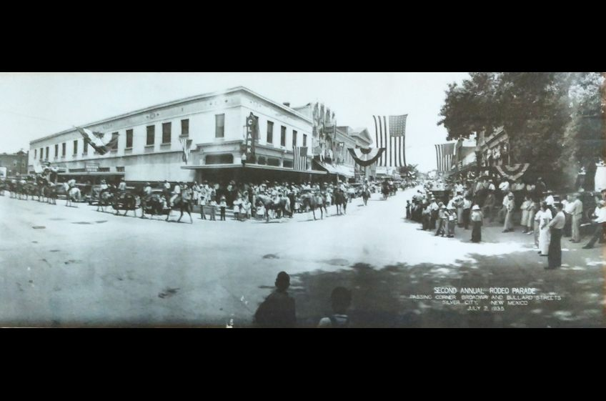 Second Annual Rodeo Parade  in Old Town Silver City, New Mexico - July 2, 1932