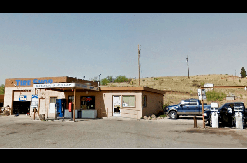 Chuck's Folly Gas Station in Cliff NM offers a great selection of groceries, health items, auto supplies, tires, as well as gas/diesel just 7 miles from New Mexico Rentals and Double E Ranch.