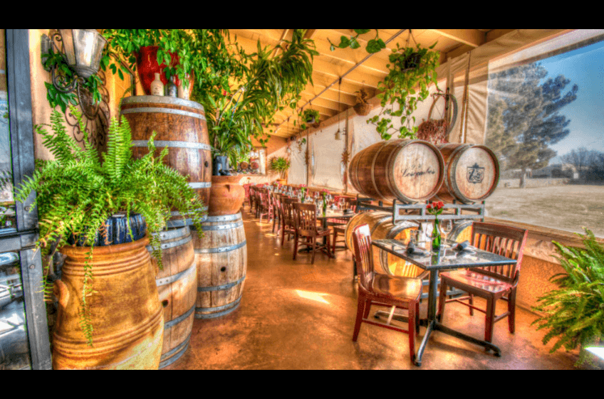 St Clair Winery and Bistro in Las Cruces NM makes the perfect day trip just a 2 hours drive from New Mexico Cabin Rentals - fine wine, unique menu