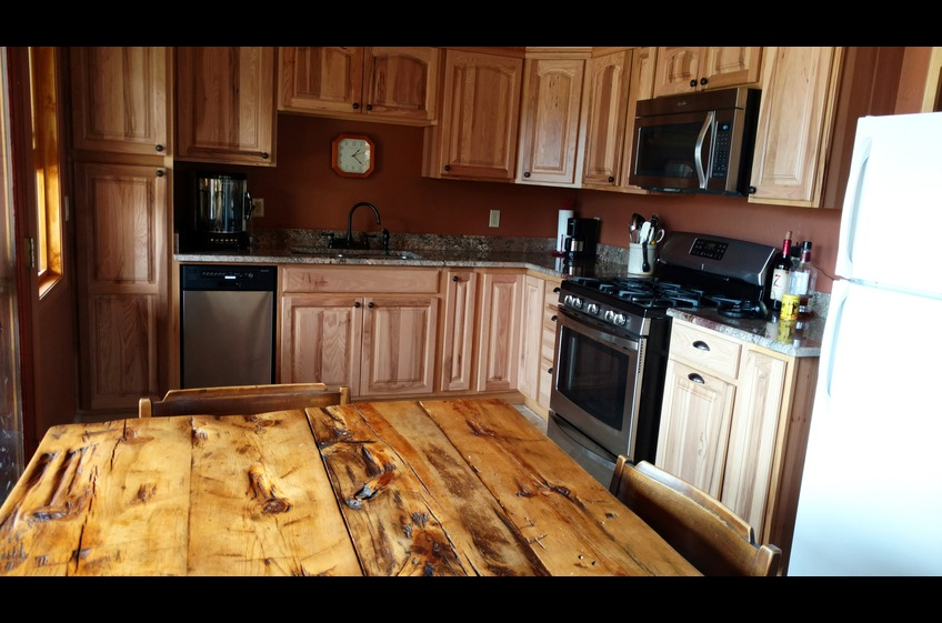 Full sized appliances, including dishwasher, at secluded Bear Creek Canyon Retreat - New Mexico Cabin Rentals