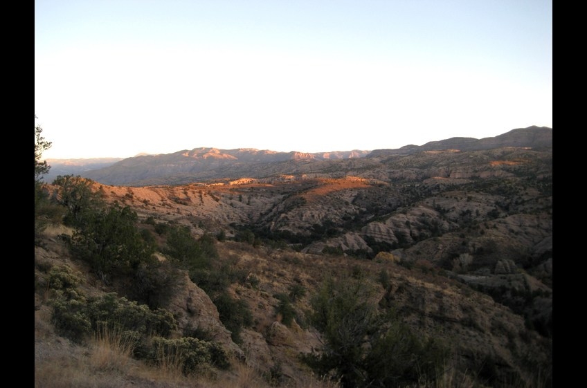 Looking east toward the Gila Wilderness
