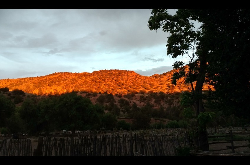 Hills turn Golden at Sunset at Old Ranch Headquarters